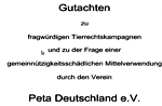 Gutachten über PeTA Deutschland e.V.