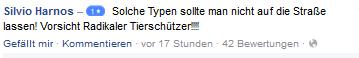 Screenshot meiner Bewertung auf der Facebookseite von Fahr-Praxis.de