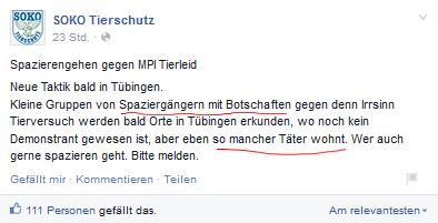 Screenshot Facebook SOKO Tierschutz https://www.facebook.com/sokotierschutz.ev?fref=ts