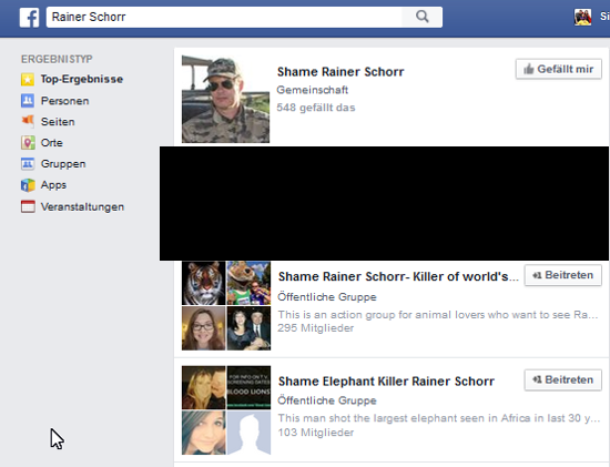 Screenshot Facebook