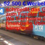 PeTA schmeißt 52.500 € zum Fenster hinaus