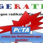 Petitionsbetrug bei PeTA