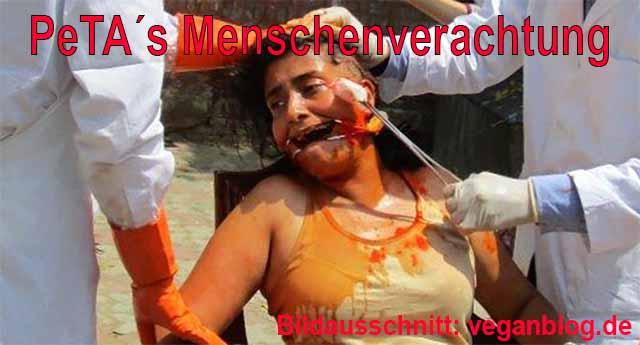 PeTA zeigt indischen Männern wie sie Frauen behandeln sollen / Bildausschnitt: veganblog.de