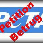 PeTA Petitionen getarnte Straftaten