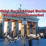 Pferdekutschen dürfen wieder auf den Pariser Platz