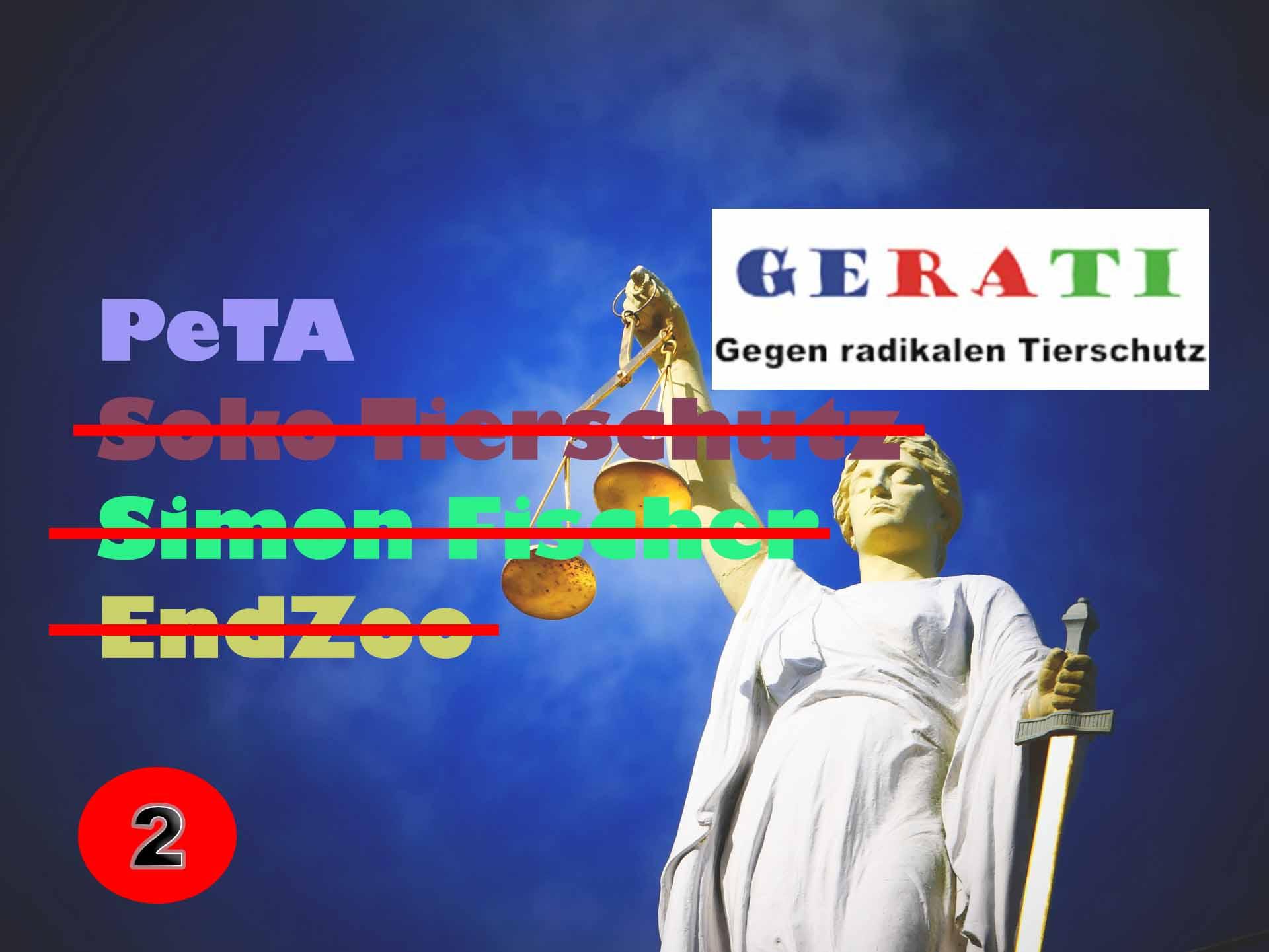 """""""Nur PeTA darf Strafanzeigen stellen"""" - Die Strafanzeigen von PeTA gegen GERATI (2)"""