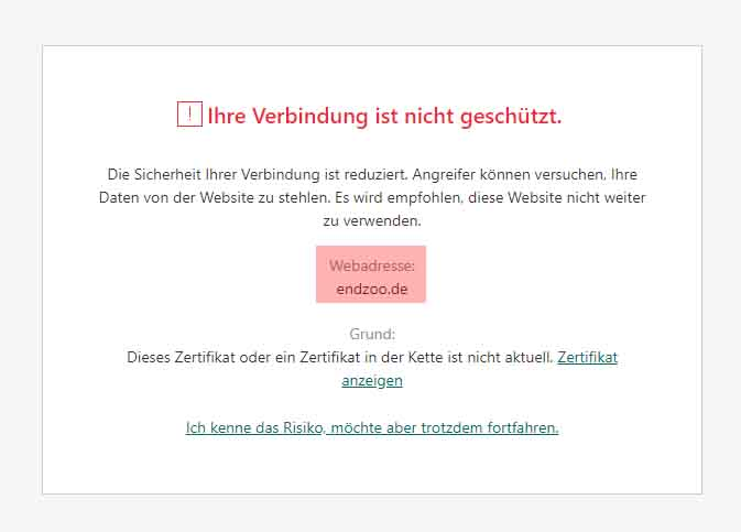 Vor Frank Albrechts Webseite Endzoo.de wird gewarnt!!! (27)