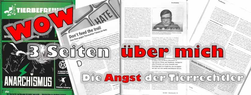 3 Seiten über GERATI im Tierbefreiung - Magazin
